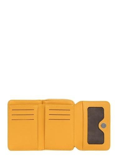 Cengiz Pakel 65239Mn Teknolojik Deri Orta Boy Renkadın Mentor Portföy Cüzdan Sarı